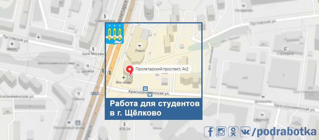 Карта Щёлково